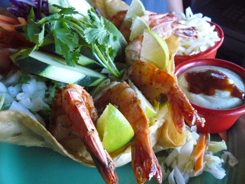 Mexican Shrimp Taco Salad - Los Patios Restaurant - Old Town San Clemente California